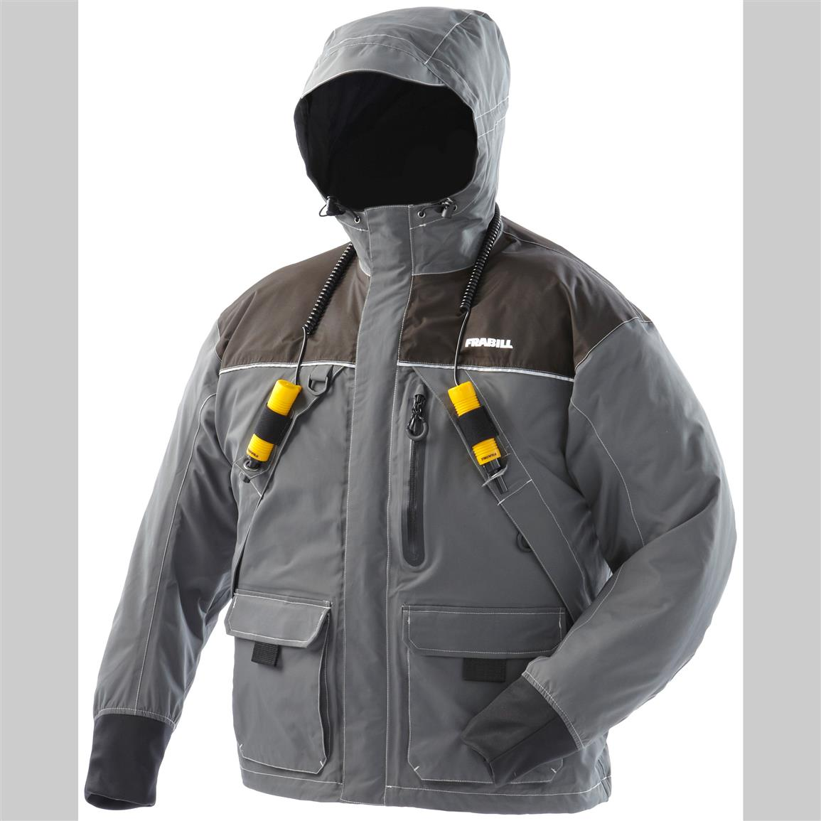 Frabill i2 waterproof jacket 622866 ice fishing for Ice fishing clothing