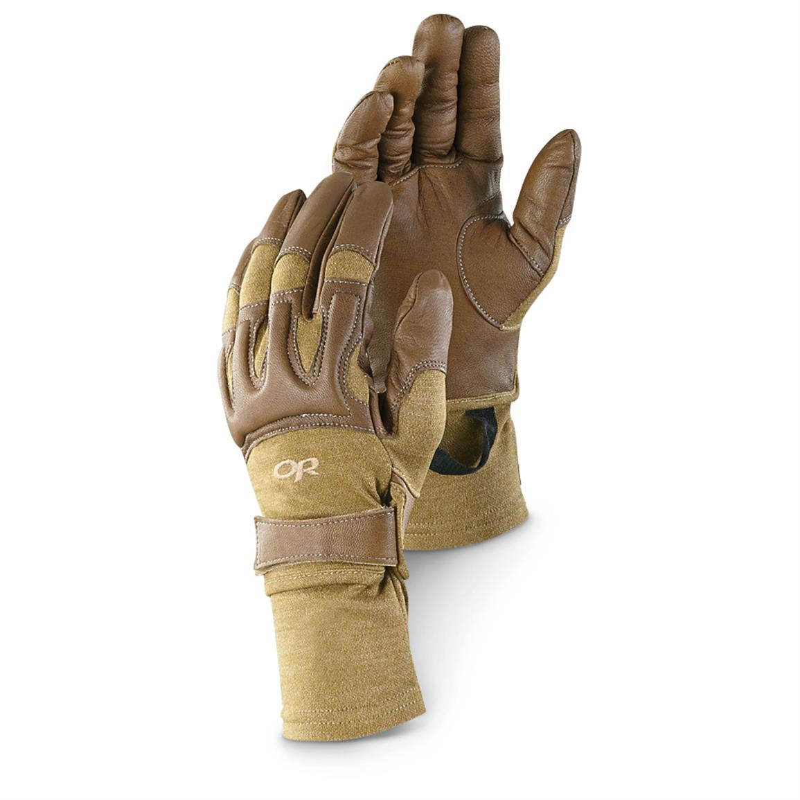 Outdoor Research Men's Rockfall Gloves with Nomex, Coyote