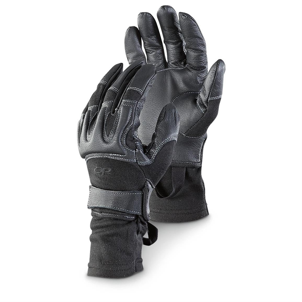 Outdoor Research Men's Rockfall Gloves with Nomex, Black