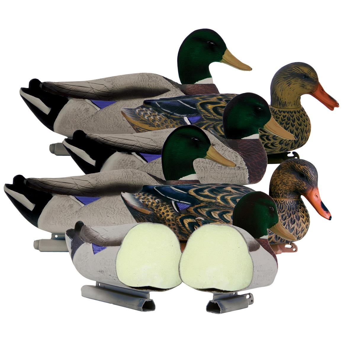 6-Pk. of Higdon® Foam-filled Magnum Mallard Decoys with Flocked Heads