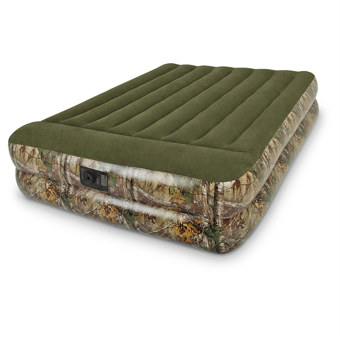 Realtree Camo Outdoor Raised Airbed with Pump
