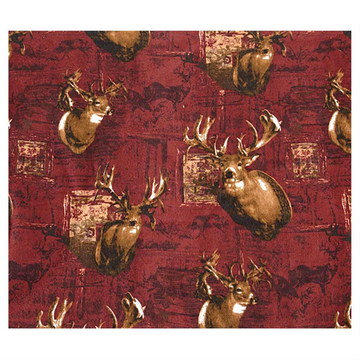 Soft and warm Deer-print flannel lining
