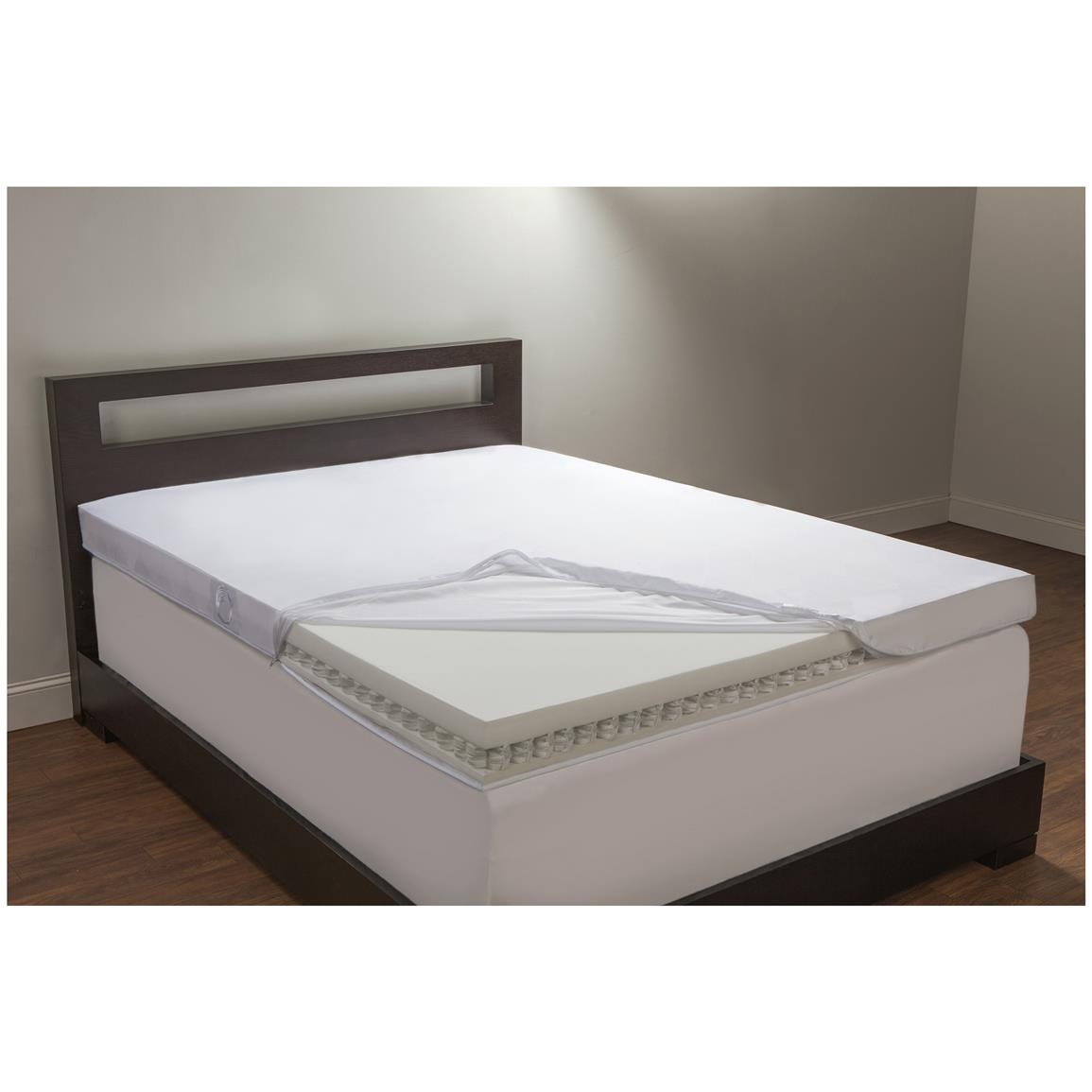 Comfort Revolution King 4 Spring Coil And Foam Topper 623593 Mattress Toppers At Sportsman