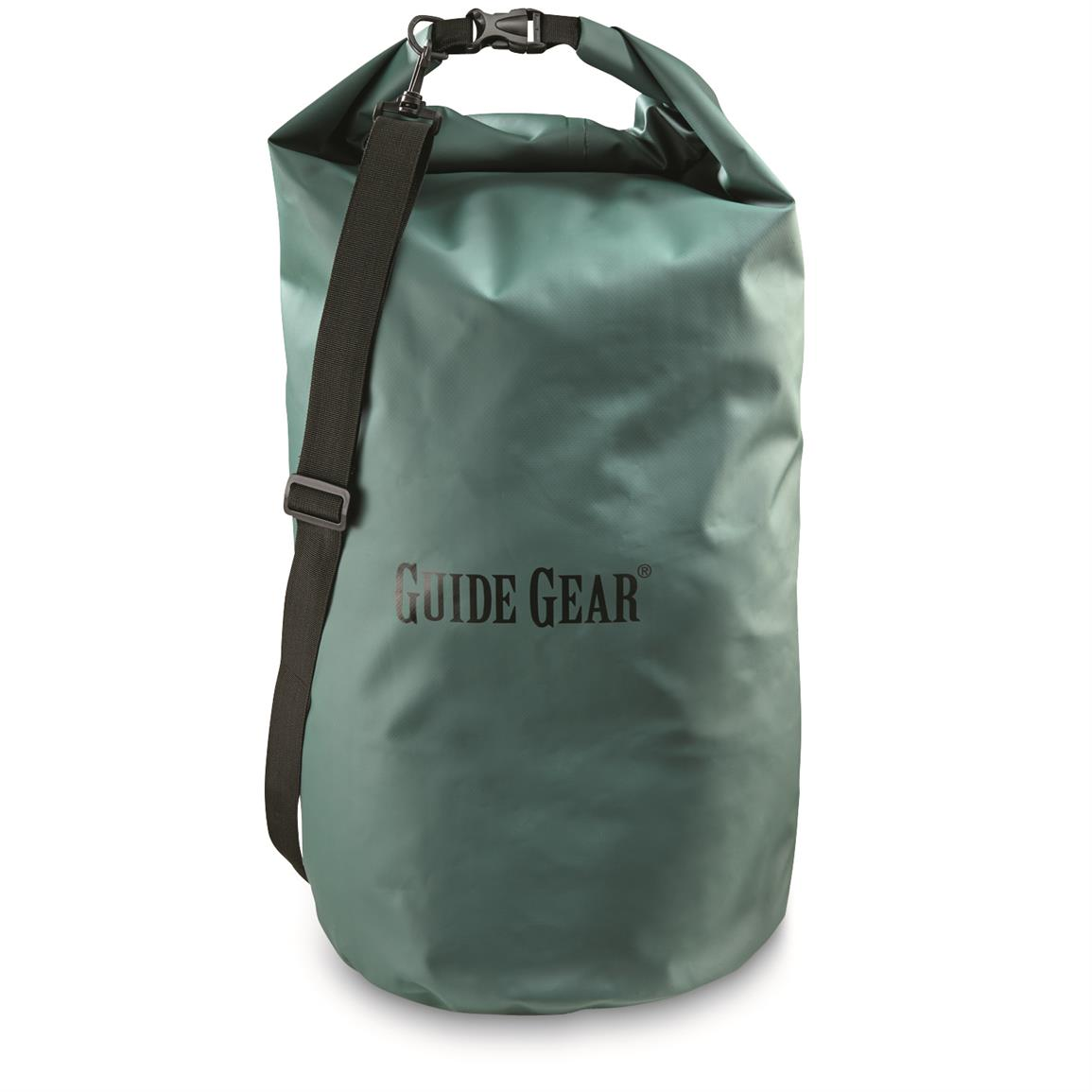 Guide Gear Roll-Top Waterproof Dry Bag, 60 Liter, Green