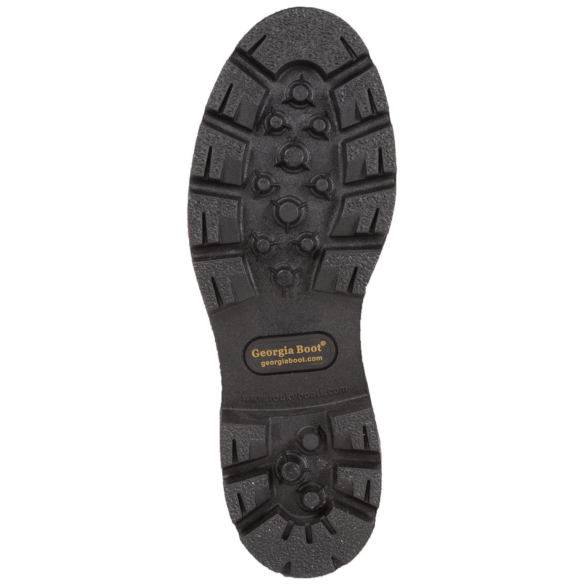 Direct-attached, oil-resistant PVC outsole
