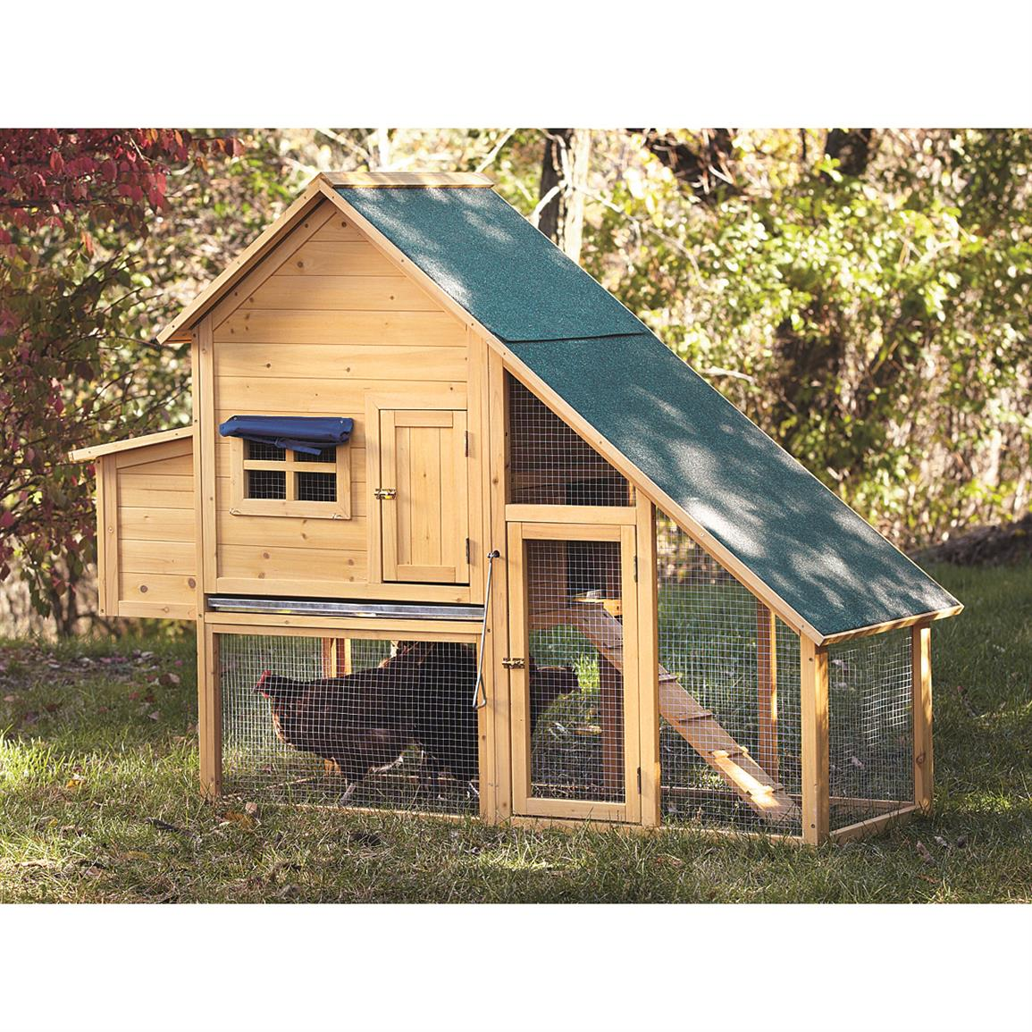 CASTLECREEK Farm House Chicken Coop with Nesting Box