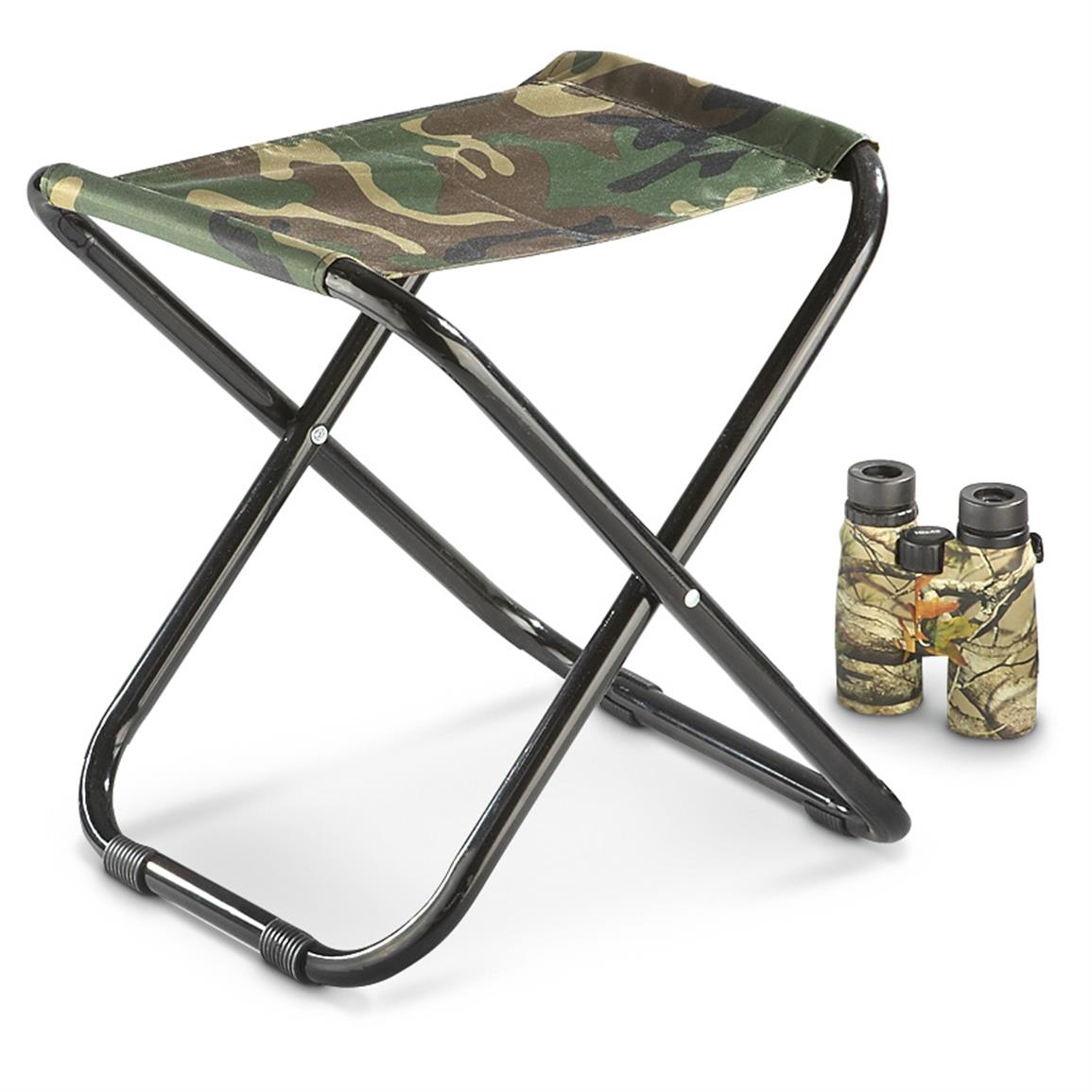 Mil Tec Folding Woodland Camo Camp Stool 625279 Camo