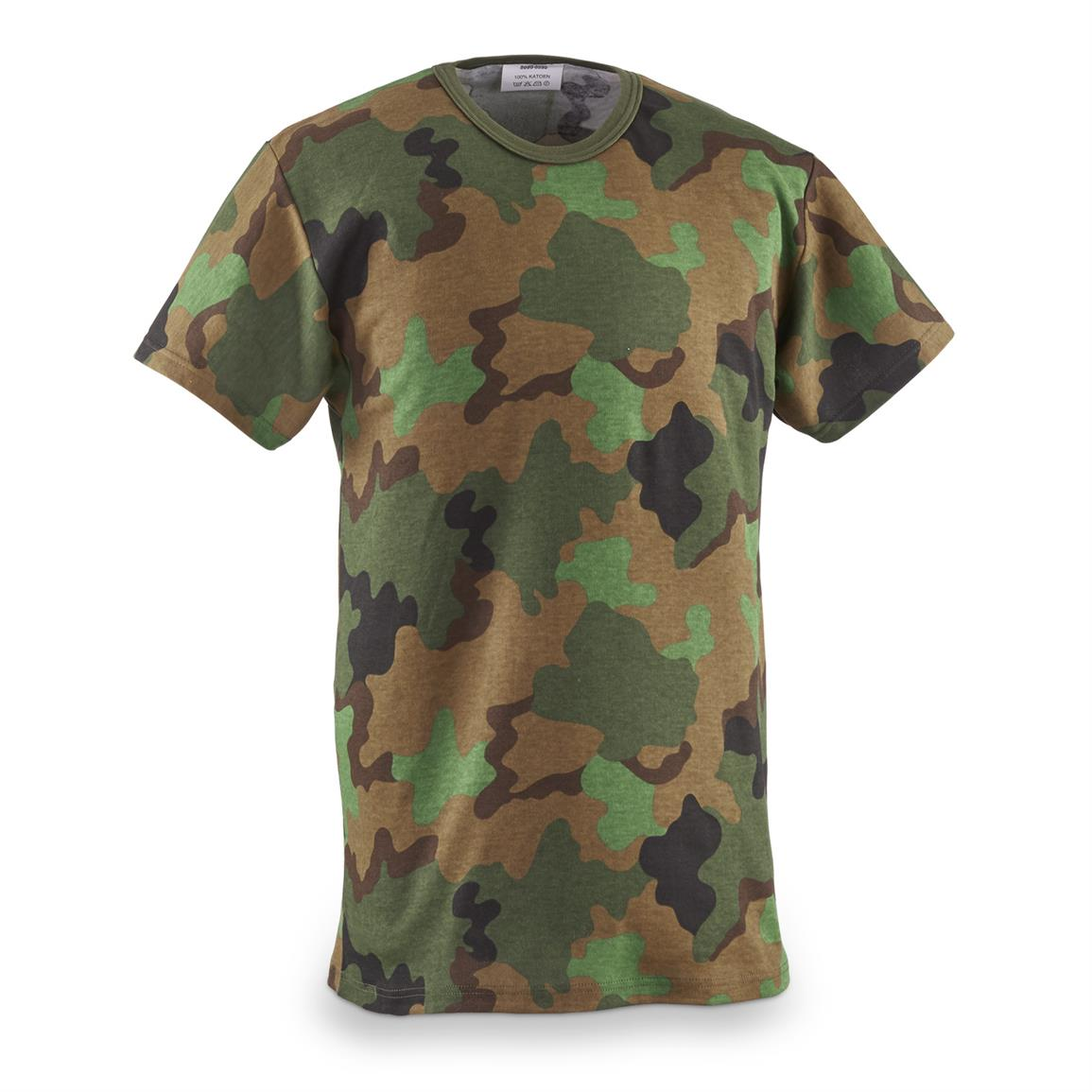 Dutch Military Issue Jungle Camo T-Shirt, New