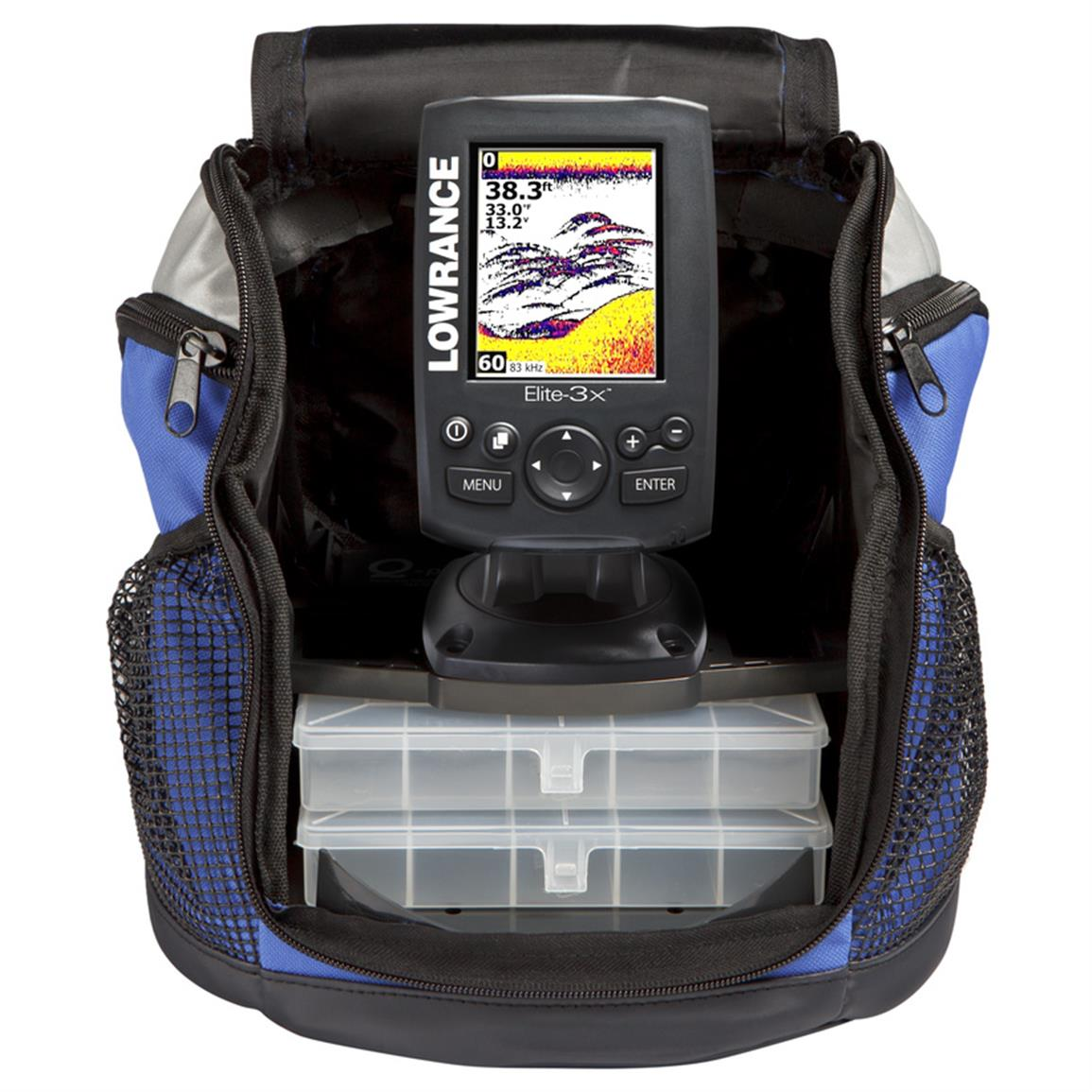 Lowrance elite 3x all season fishfinder pack 627269 ice for Ice fishing electronics