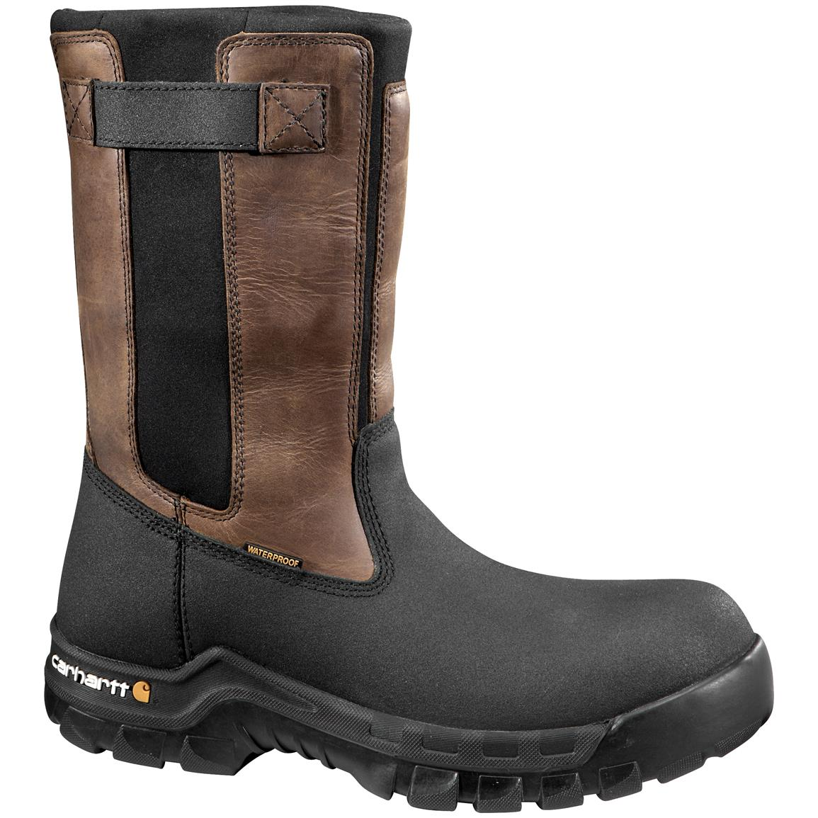 "Carhartt 10"" Rugged Flex Waterproof Composite Toe Pull-on Work Boots"