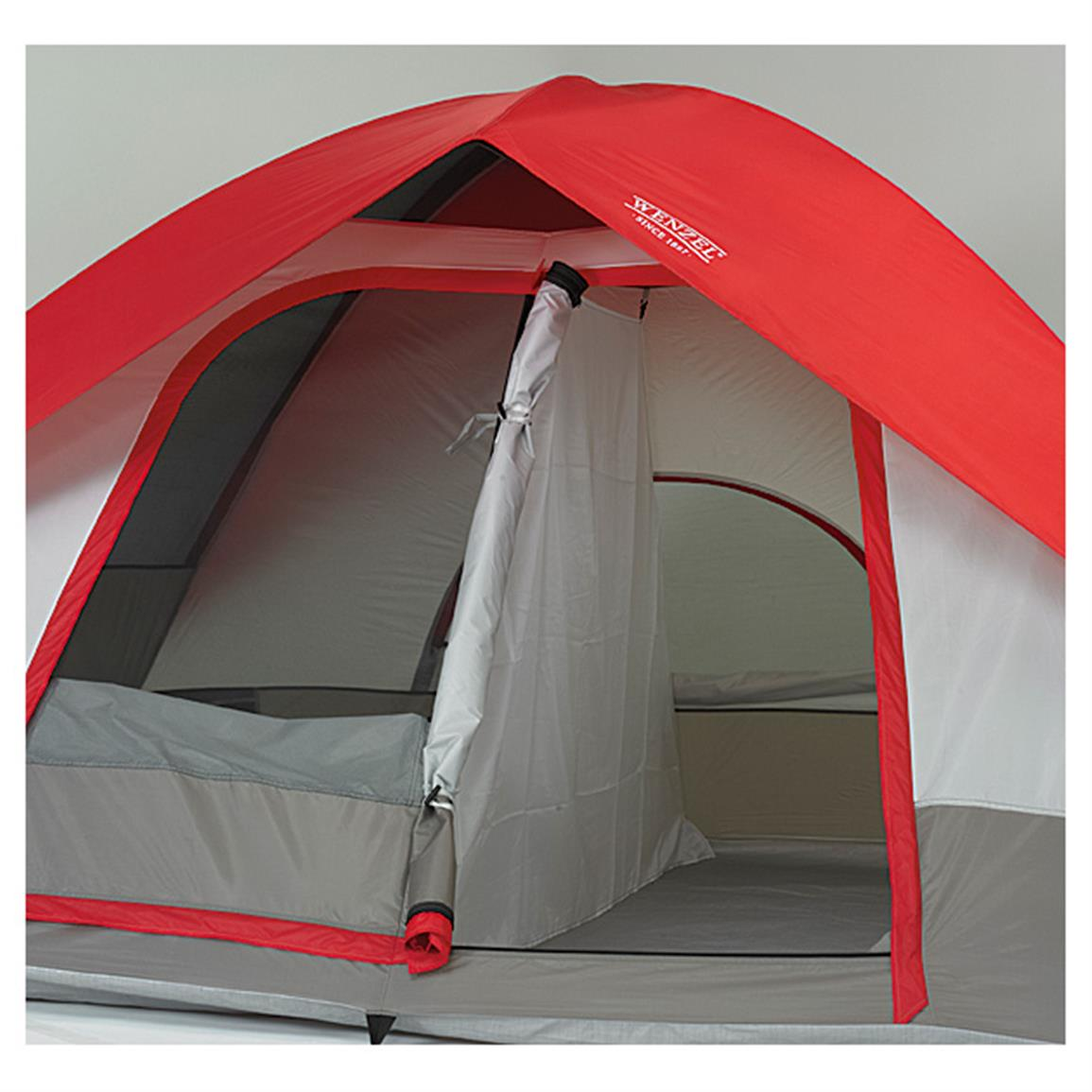 Wenzel Pine Ridge 5 Tent. Removable ider curtain for privacy & Wenzel Pine Ridge 5 Tent - 627358 Dome Tents at Sportsmanu0027s Guide