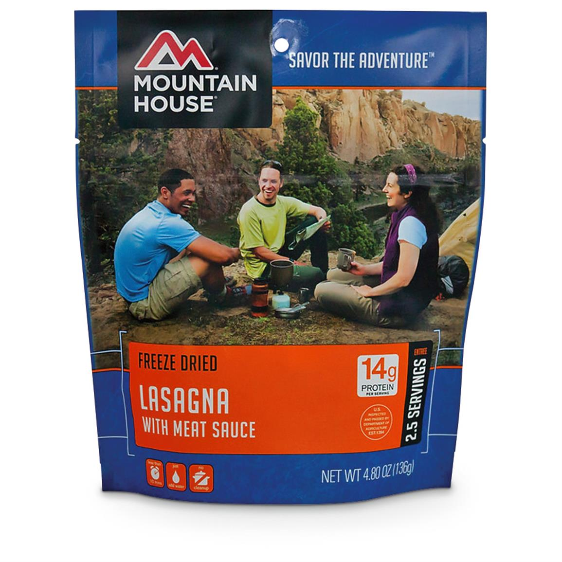 Mountain House Emergency Food Freeze-Dried Lasagna, 2 Pouches