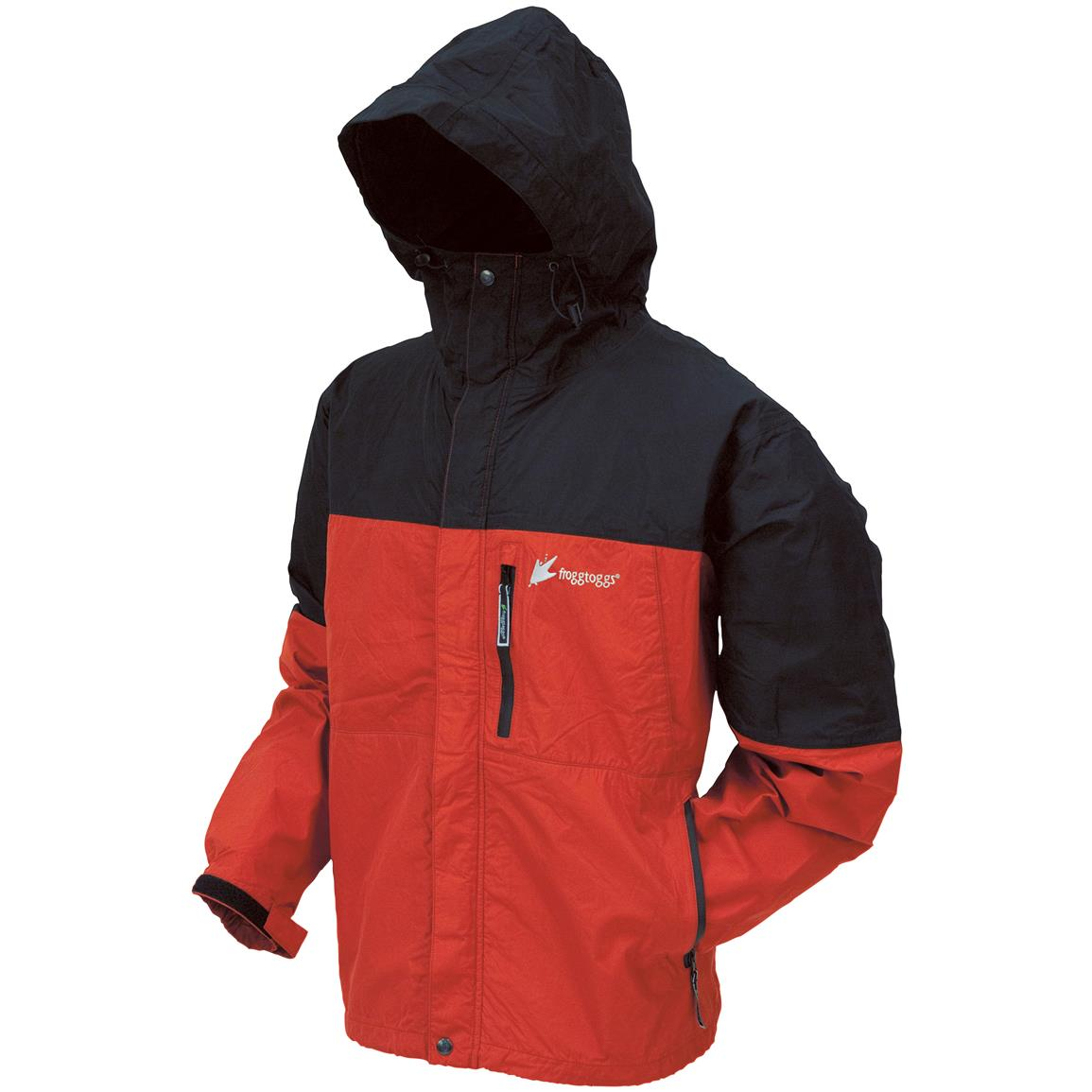 frogg toggs ToadRage Rain Jacket, Red / Black