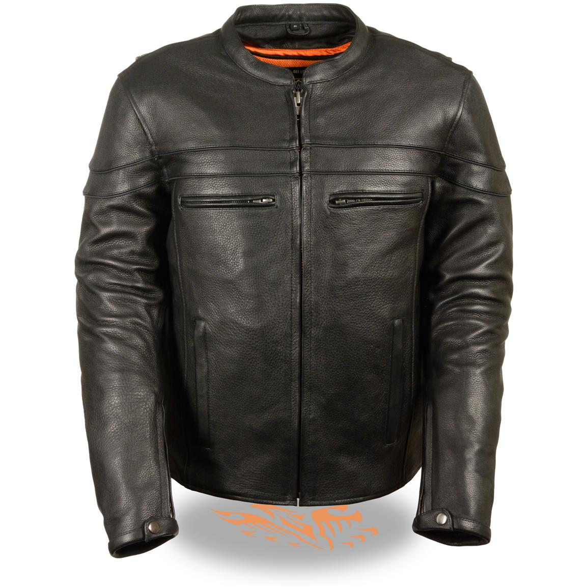 Milwaukee Leather® Sporty Scooter Crossover Jacket, Front