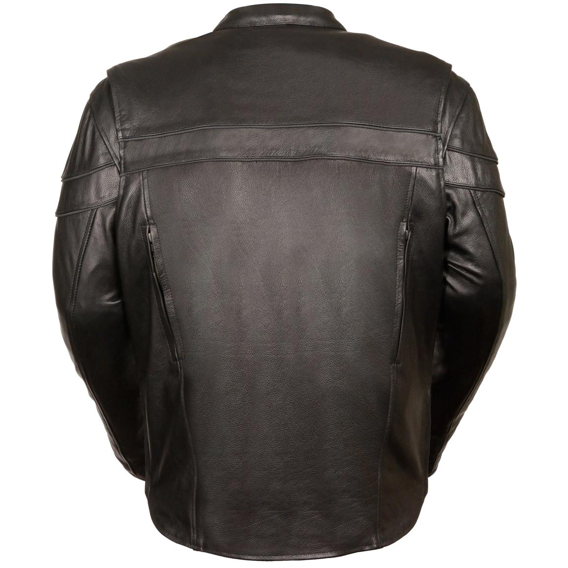 Milwaukee Leather® Sporty Scooter Crossover Jacket, Back
