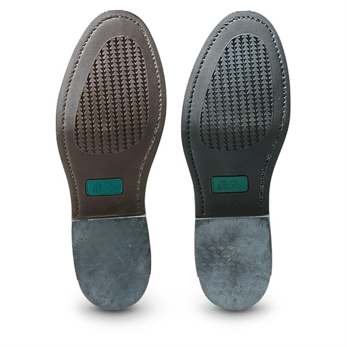 Long-wearing, oil and chemical-resistant rubber outsole