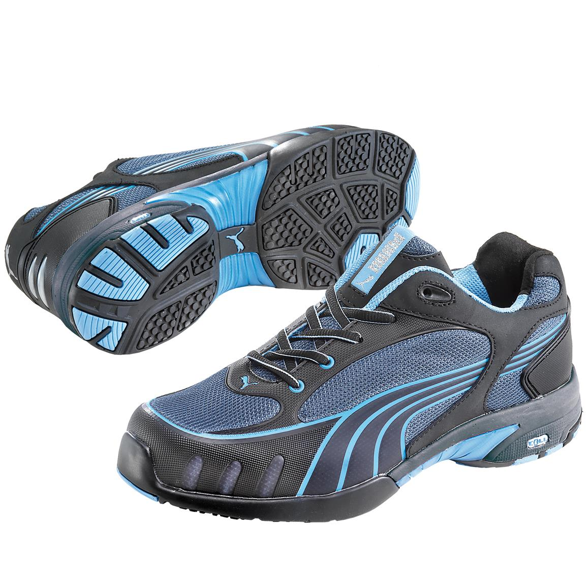 Women's Puma Safety Fuse Motion SD Low Steel Toe Shoes, Blue