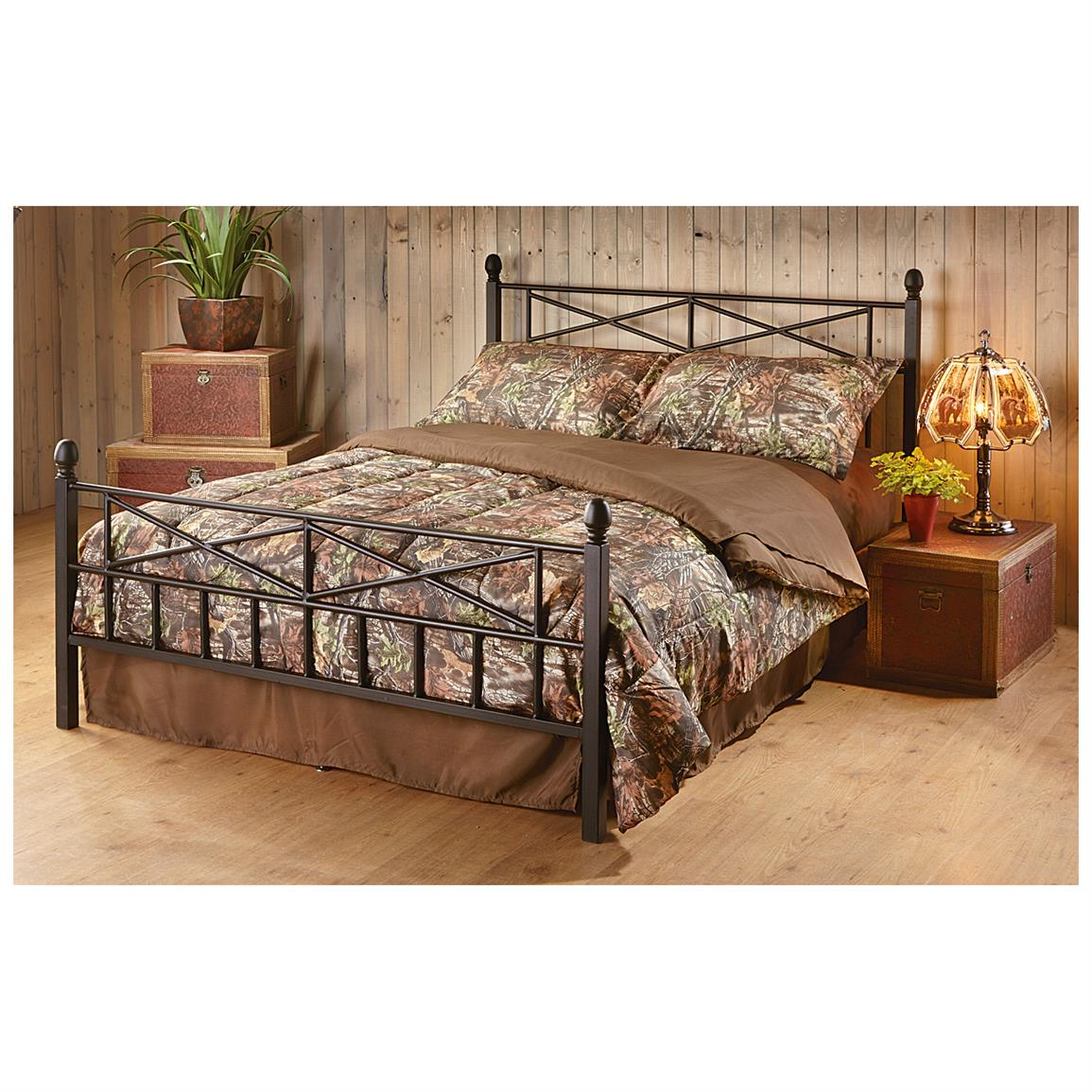 Tranquil Sleep Decorative Metal Bed Frame