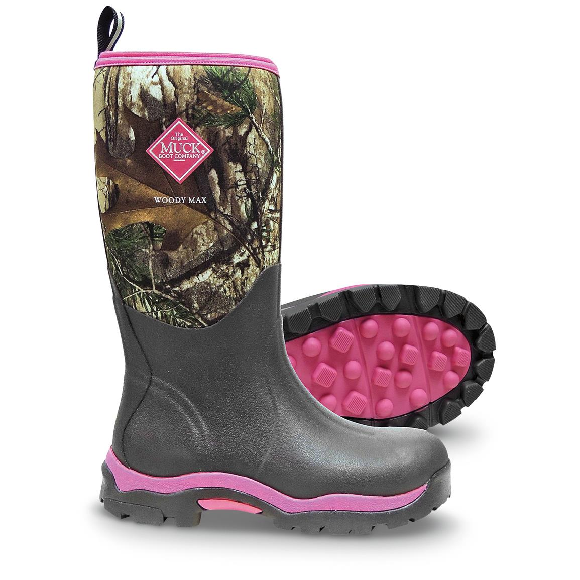 Muck Boots Woody Max Women's Hunting Boots - 633681, Rubber & Rain ...