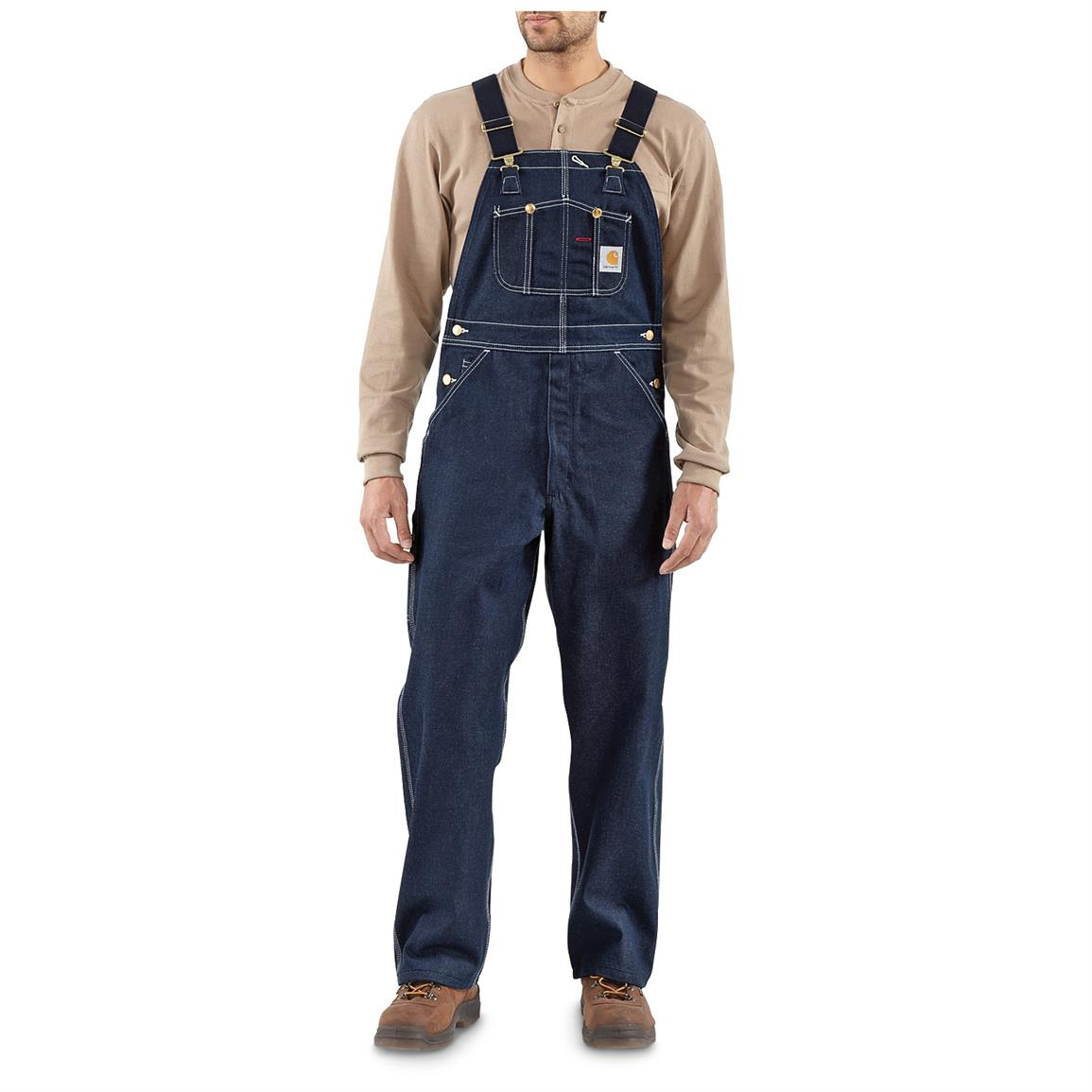 Carhartt Men's Denim Bib Overalls, Denim