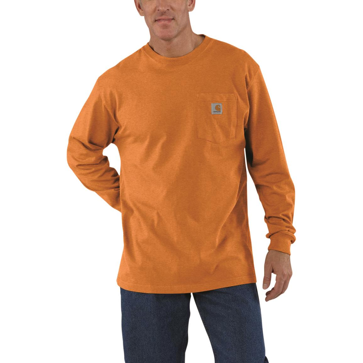 Carhartt Men's Workwear Long-Sleeve Pocket Shirt, Amberwood Heather