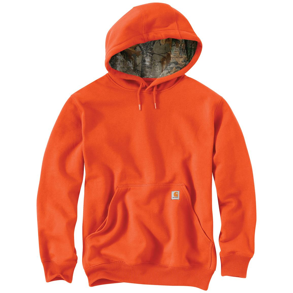 Carhartt Men's Houghton Camo Hoodie Sweatshirt, Orange
