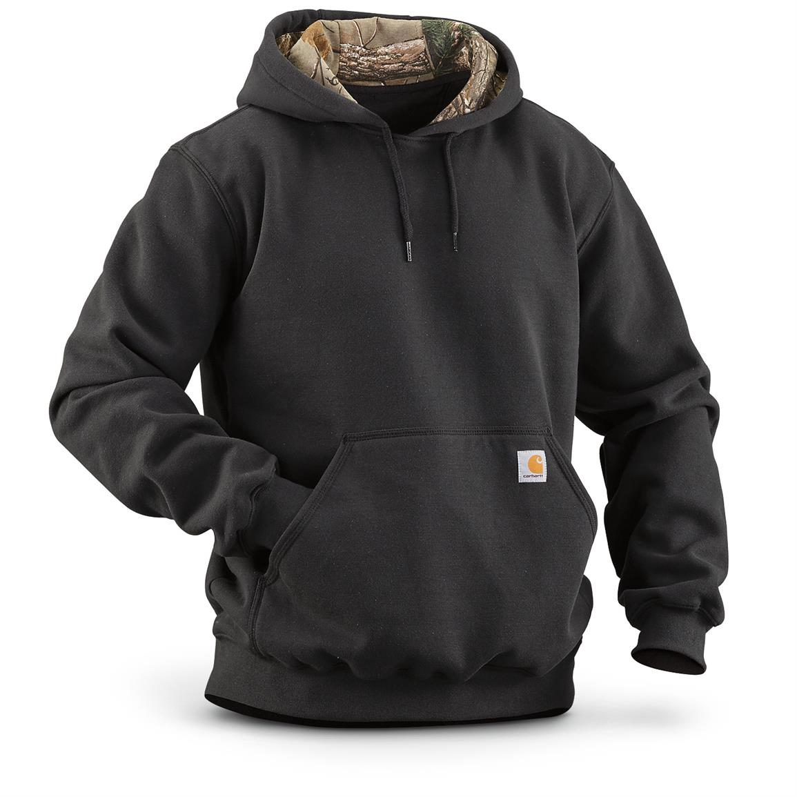 Carhartt Men's Houghton Camo Hoodie Sweatshirt, Black