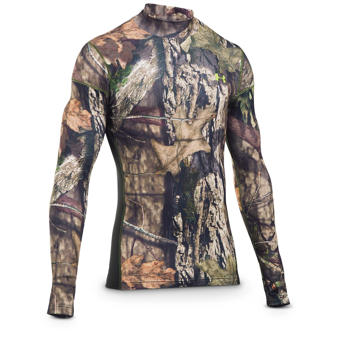 Under Armour ColdGear Infrared Scent Control Tevo Mock Long-Sleeve Shirt, MOBU Country - Velocity