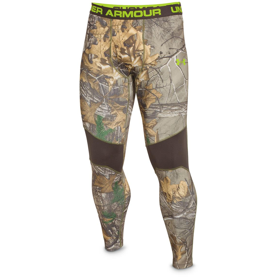 Under Armour ColdGear Infrared Scent Control Tevo Leggings, Realtree Xtra