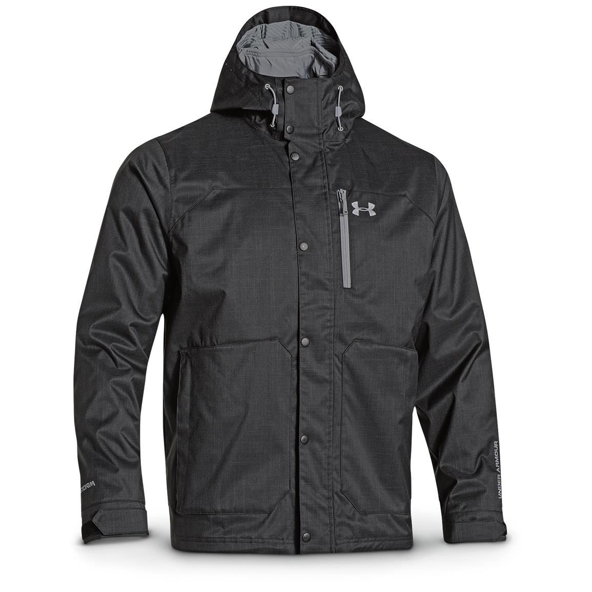 Under Armour Men's ColdGear Infrared Porter 3-in-1 Jacket, Black / Steel