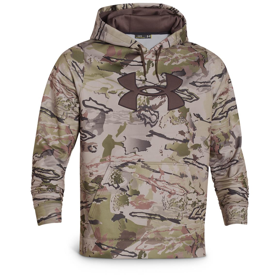 Under Armour Men's Camo Big Logo Fleece Hoodie, Ridge Reaper Camo