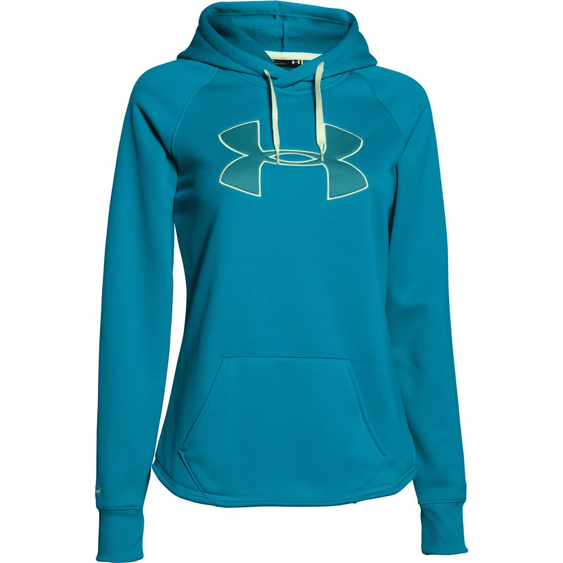 Women's Under Armour Rival Hoodie, Pacific Blue