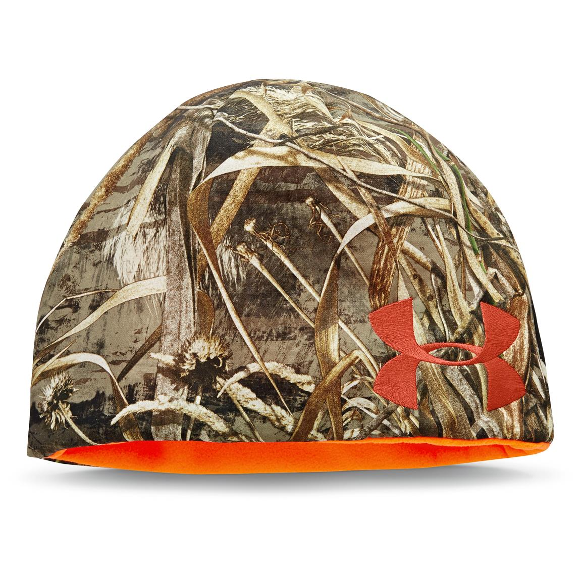 Under Armour Reversible Fleece Beanie, Realtree Max-5