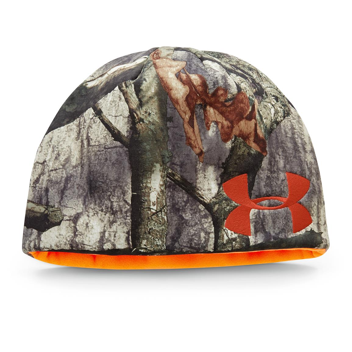 Under Armour Reversible Fleece Beanie, Realtree Xtra