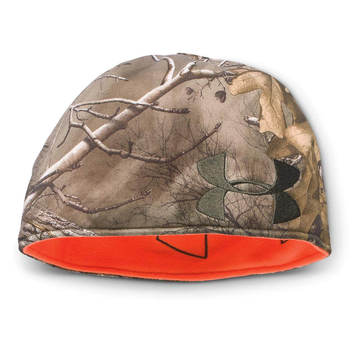 Under Armour Reversible Fleece Beanie, Realtree Xtra / Maverick Brown