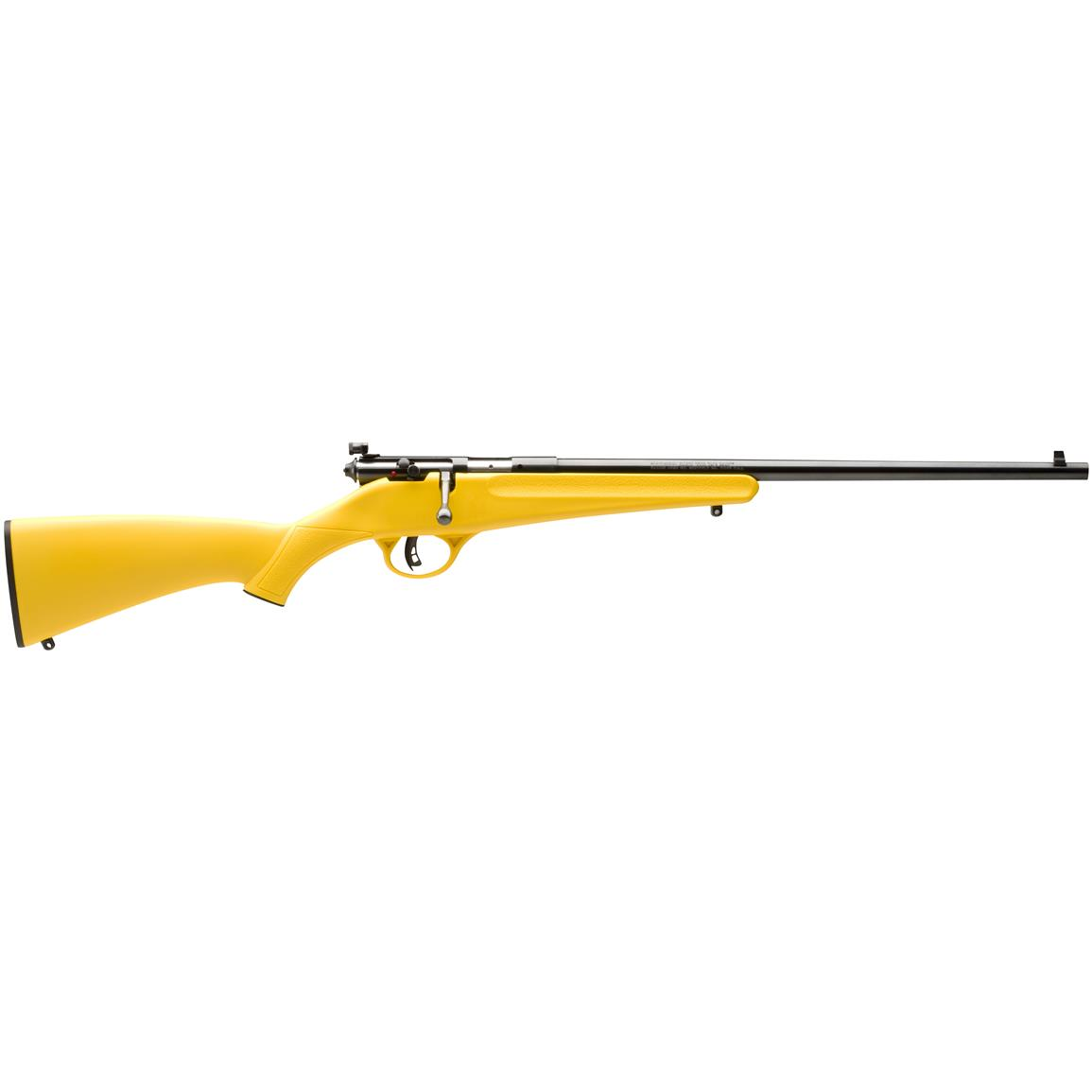 "Savage Rascal Youth, Bolt Action, .22LR, Rimfire, 16.125"" Barrel Yellow Synthetic Stock, 1 Round"