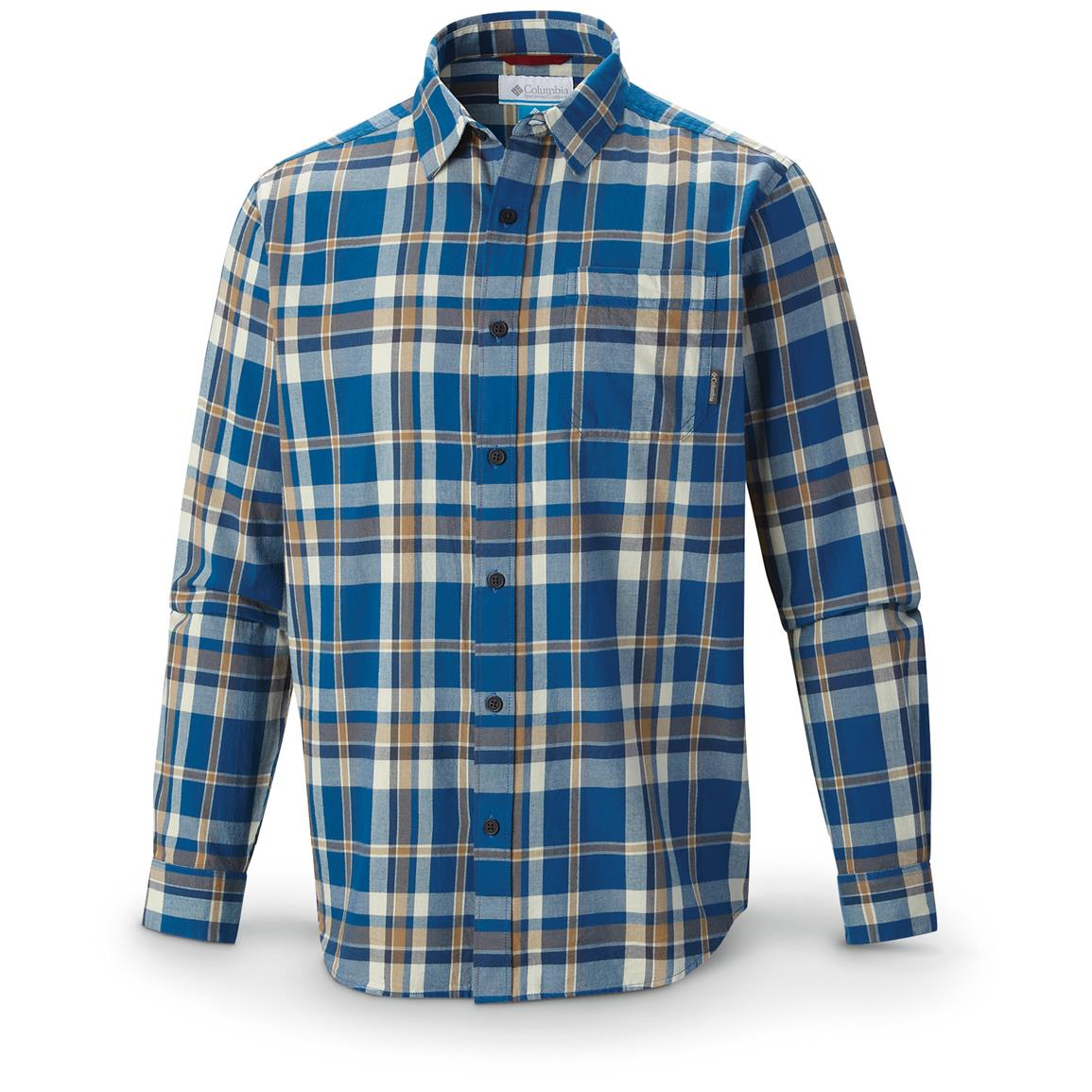 Columbia Vapor Ridge III Shirt, Long-sleeved, Marine Blue Twill