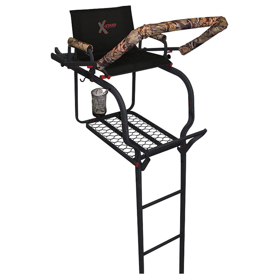 X-Stand Duke 20 foot Ladder Tree Stand • High in the sky, you'll see your prey sooner than ever!