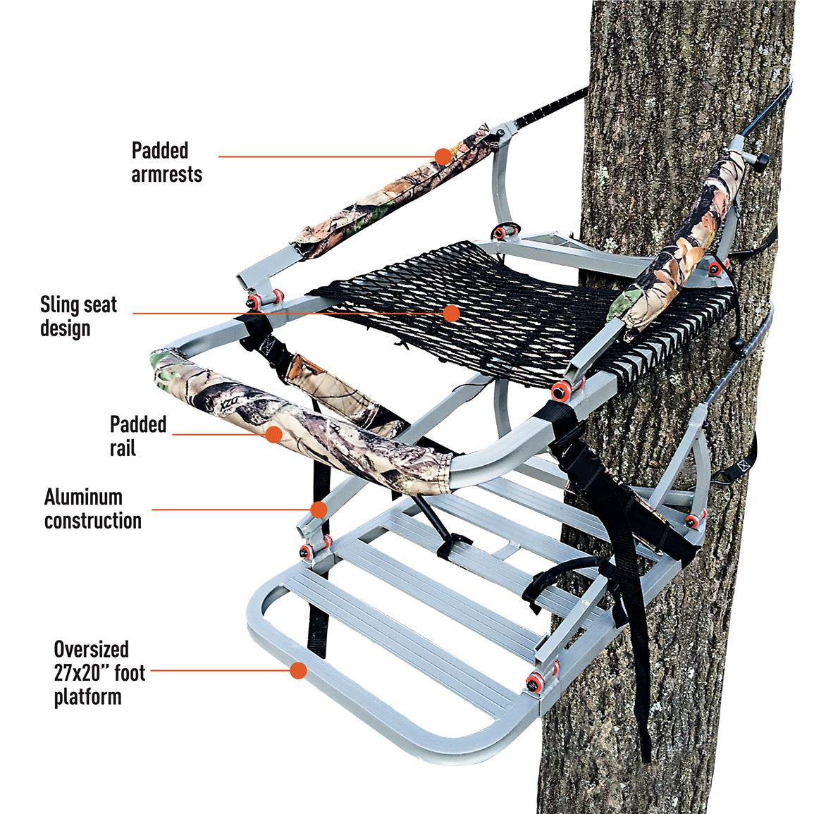X Stand Deluxe Hunting Climbing Tree Stand 637487