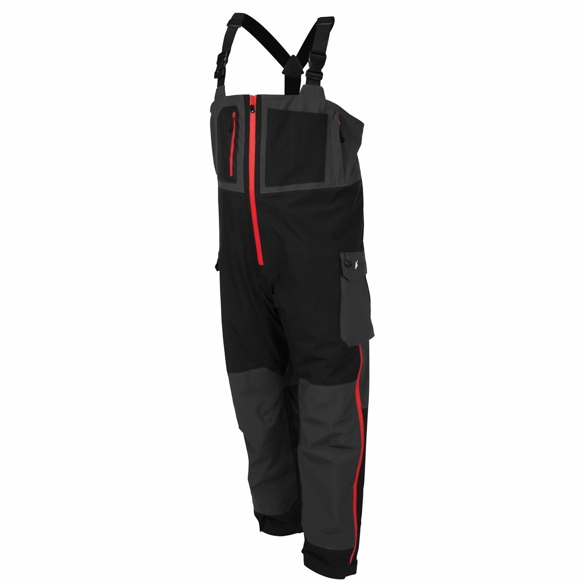 frogg toggs Pilot Guide Bibs, Black / Charcoal