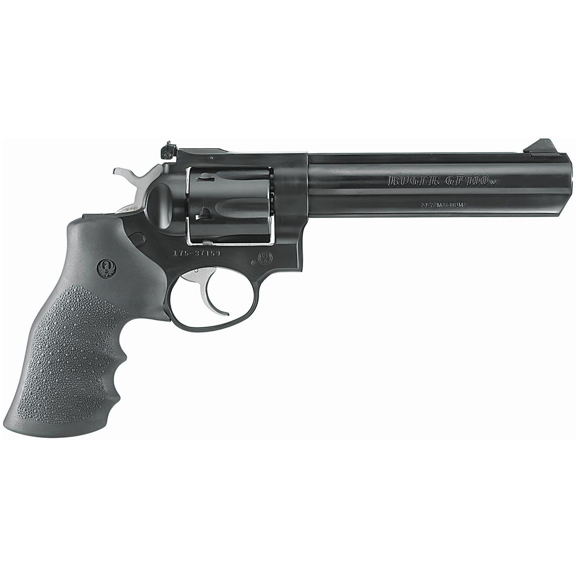 "Ruger GP100, Double Action, .357 Magnum, 6"" Barrel, 6 Rounds"