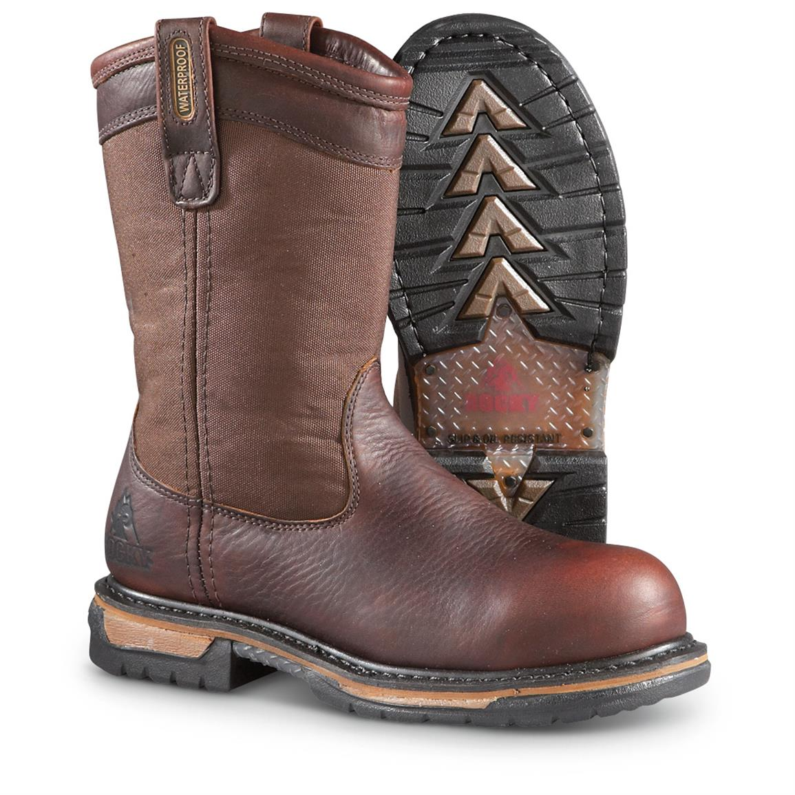 Rocky IronClad Waterproof Wellingtons - 637911, Work Boots at ...