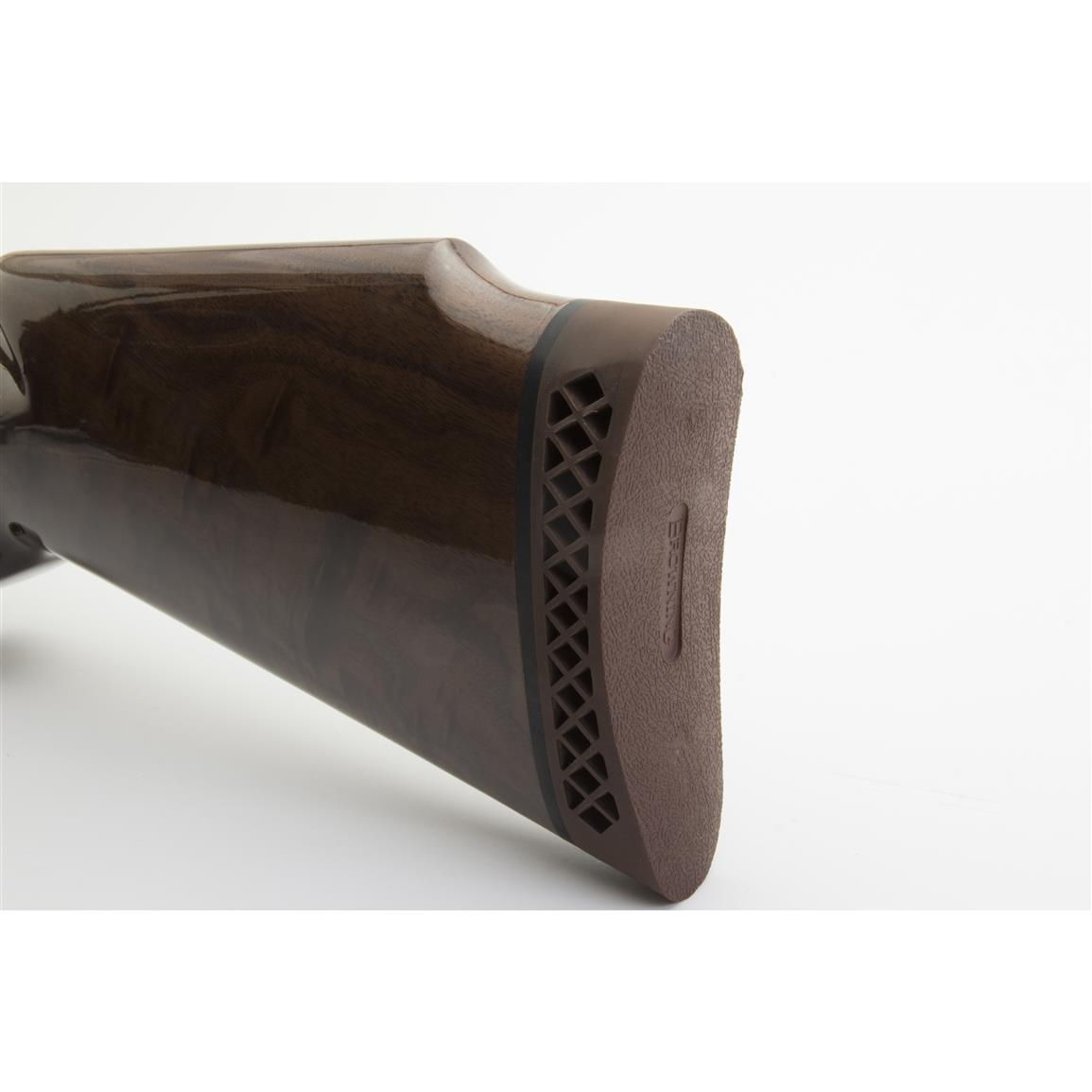 Interflex recoil pad absorbs and deflects recoil away from the shooter's cheek, allowing you to shoot comfortable for longer periods