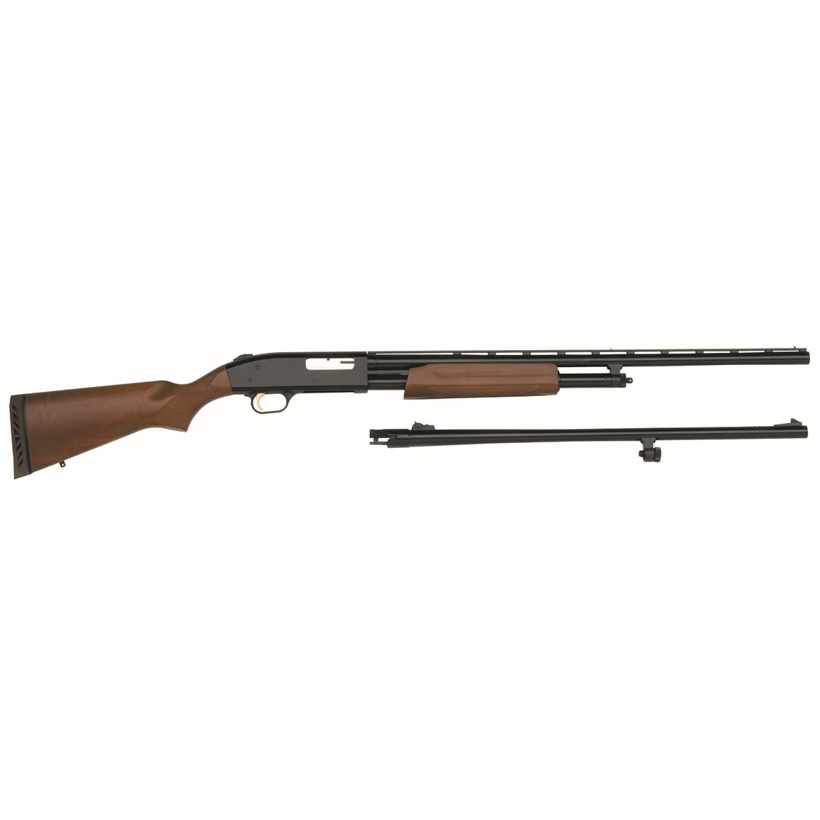 "Mossberg 500 Combo, Pump Action, 20 Gauge, 24"" / 26"" Barrels, 4+1 Rounds"