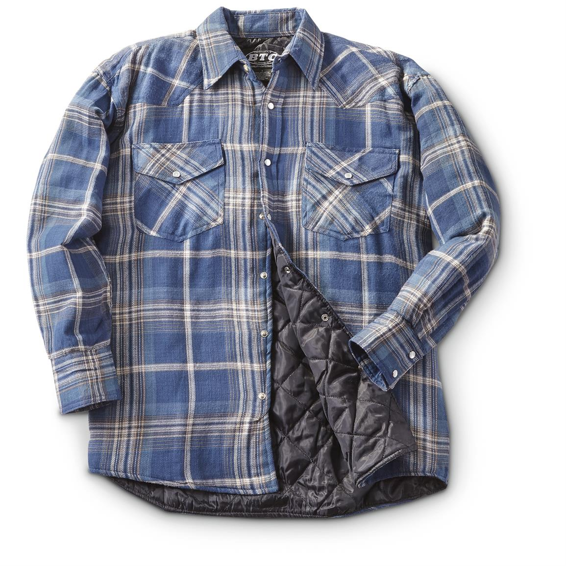 Insulated flannel shirts lookup beforebuying for Men flannel shirt jacket with quilted lining