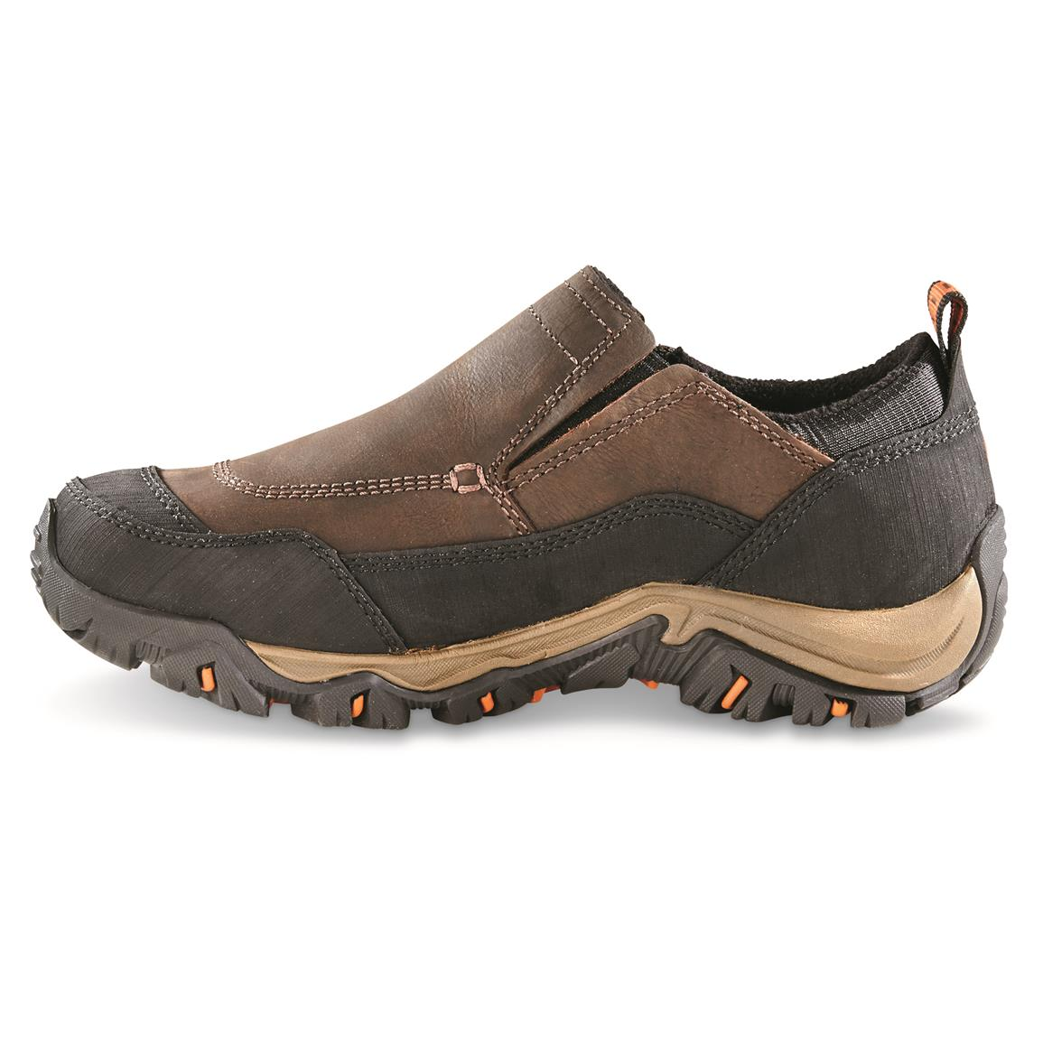 Merrell Polarand Rove Waterproof Moc Toe Slip-on Shoes, Side