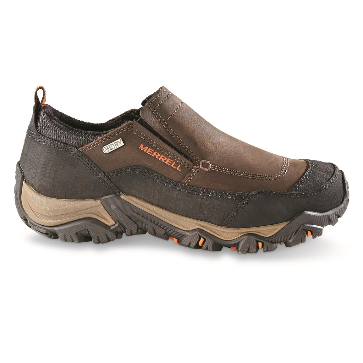 Merrell Polarand Rove Waterproof Moc Toe Slip-on Shoes, Right