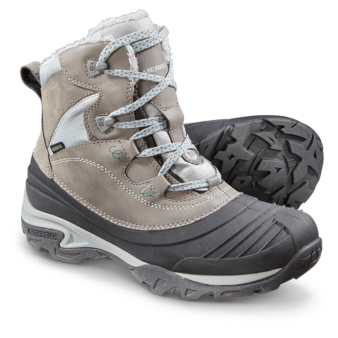 Women's Merrell Waterproof Snowbound Mid Boots, Charcoal