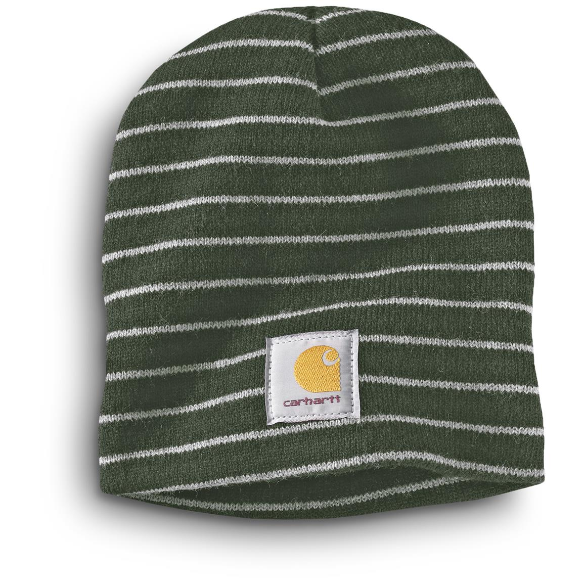 Carhartt Men's Prescott Knit Beanie Caps, 3 Pack, Green