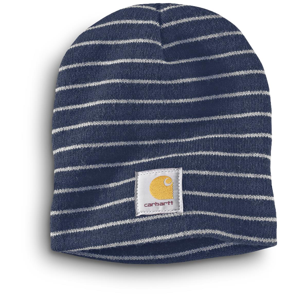 Carhartt Men's Prescott Knit Beanie Caps, 3 Pack, Navy